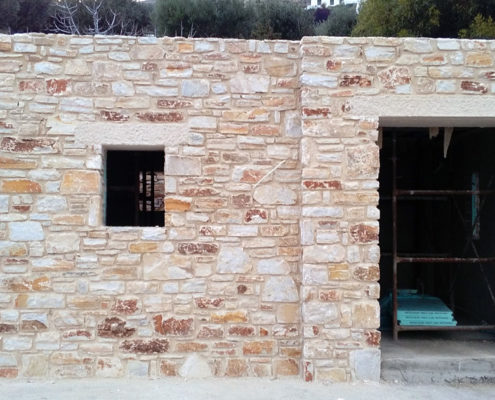 Stone home construction