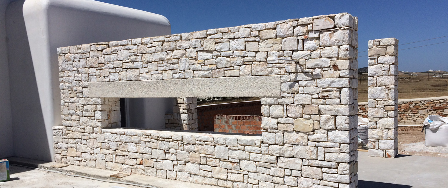 Stone outdoor enclosures construction